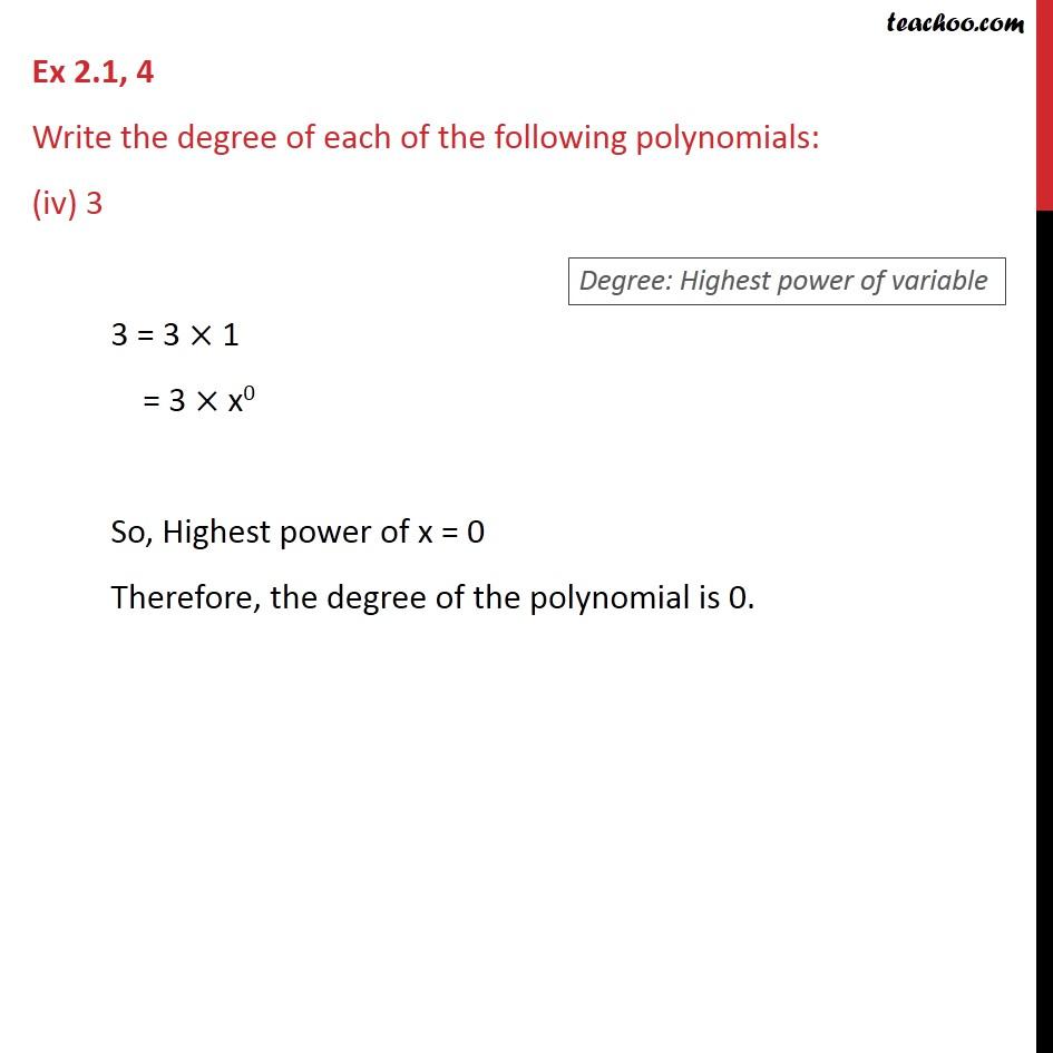 Ex 2.1, 4 - Chapter 2 Class 9 Polynomials - Part 4