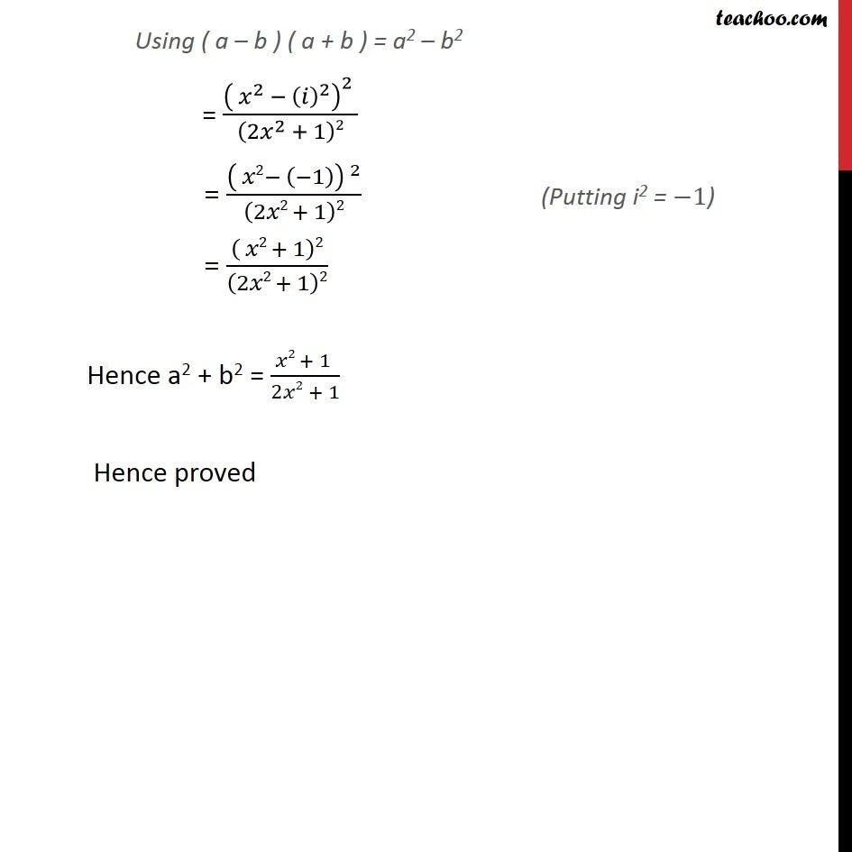 Misc 11  - Chapter 5 Class 11 Complex Numbers - Part 6