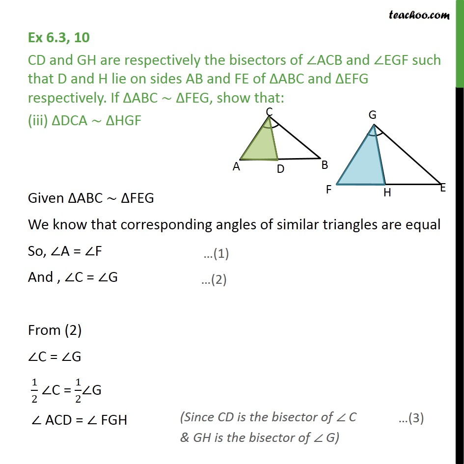 Ex 6.3, 10 - Chapter 6 Class 10 Triangles - Part 6