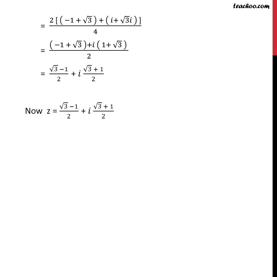 Example 16 - Chapter 5 Class 11 Complex Numbers - Part 3