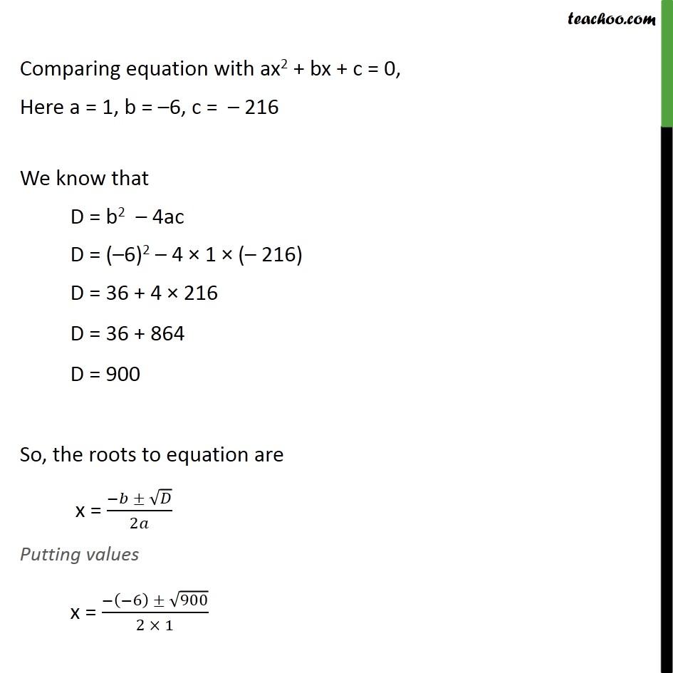 Ex 4.3, 11 - Chapter 4 Class 10 Quadratic Equations - Part 3