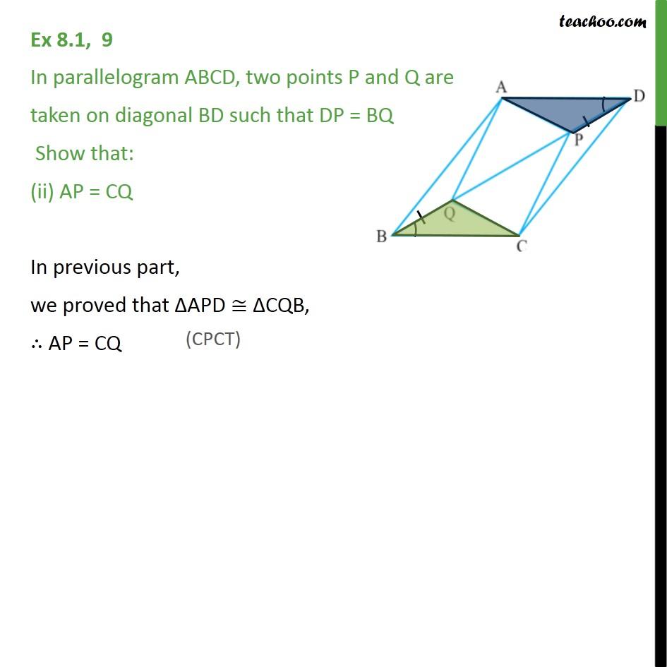Ex 8.1, 9 - Chapter 8 Class 9 Quadrilaterals - Part 2