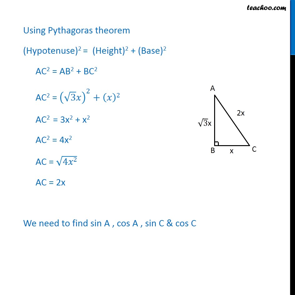 Ex 8.1, 9 - Chapter 8 Class 10 Introduction to Trignometry - Part 2