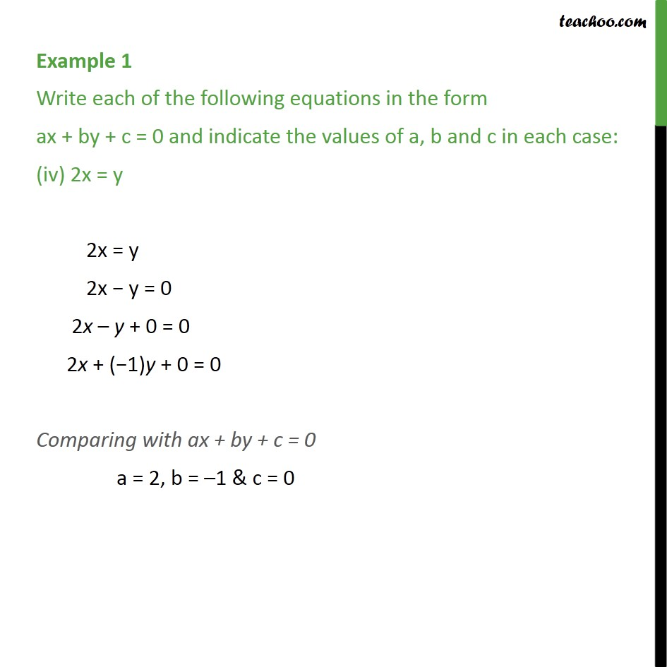 Example 1 - Chapter 4 Class 9 Linear Equations in Two Variables - Part 4