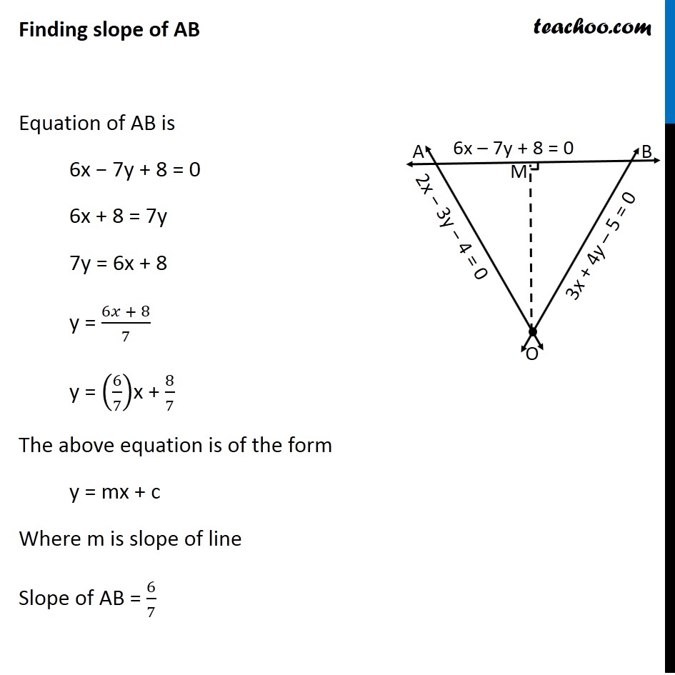 Misc 24 - Chapter 10 Class 11 Straight Lines - Part 6
