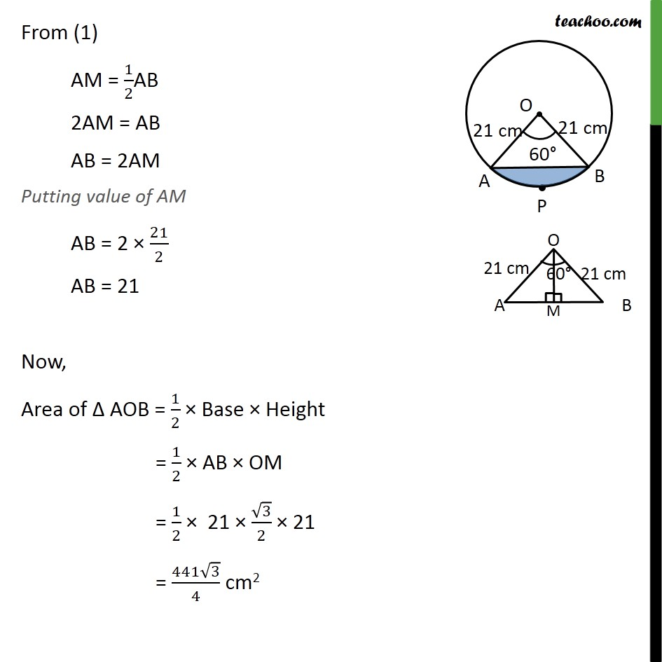 Ex 12.2, 5 - Chapter 12 Class 10 Areas related to Circles - Part 6