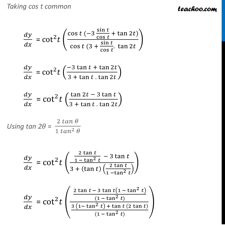 Ex 5.6, 7 - Chapter 5 Class 12 Continuity and Differentiability - Part 7