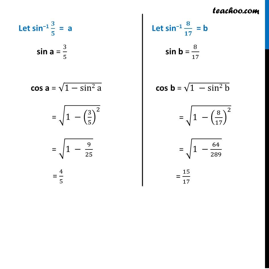 Example 10 - Chapter 2 Class 12 Inverse Trigonometric Functions - Part 2