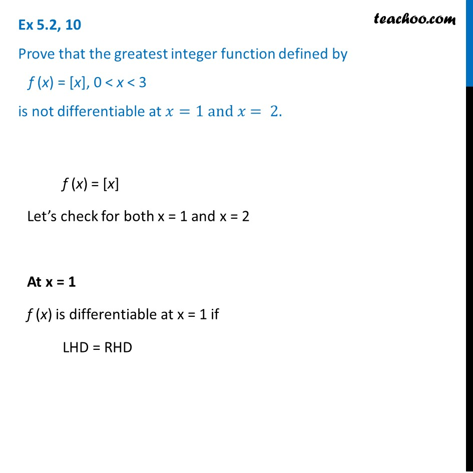 Ex 5.2, 10 - Chapter 5 Class 12 Continuity and Differentiability - Part 2