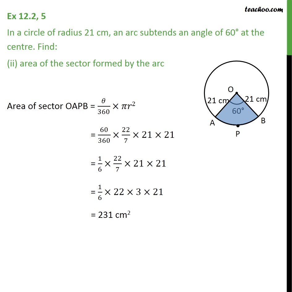 Ex 12.2, 5 - Chapter 12 Class 10 Areas related to Circles - Part 2
