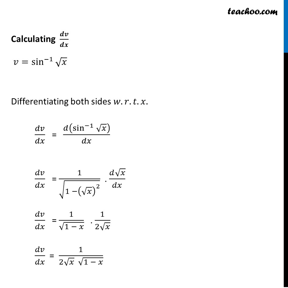 Ex 5.5, 8 - Chapter 5 Class 12 Continuity and Differentiability - Part 4