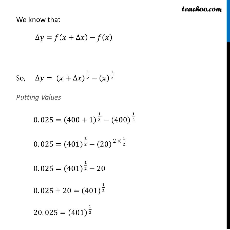 Ex 6.4, 1 (x) - Chapter 6 Class 12 Application of Derivatives - Part 3