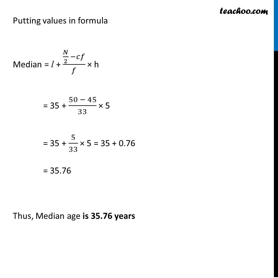 Ex 14.3, 3 - Chapter 14 Class 10 Statistics - Part 4