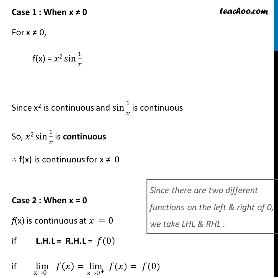 Ex 5.1, 24 - Chapter 5 Class 12 Continuity and Differentiability - Part 2
