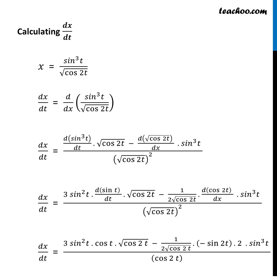 Ex 5.6, 7 - Chapter 5 Class 12 Continuity and Differentiability - Part 4