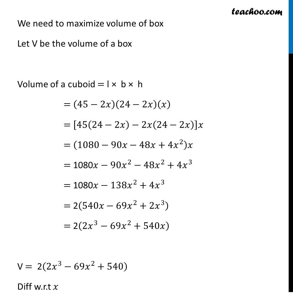Ex 6.5,18 - Chapter 6 Class 12 Application of Derivatives - Part 2