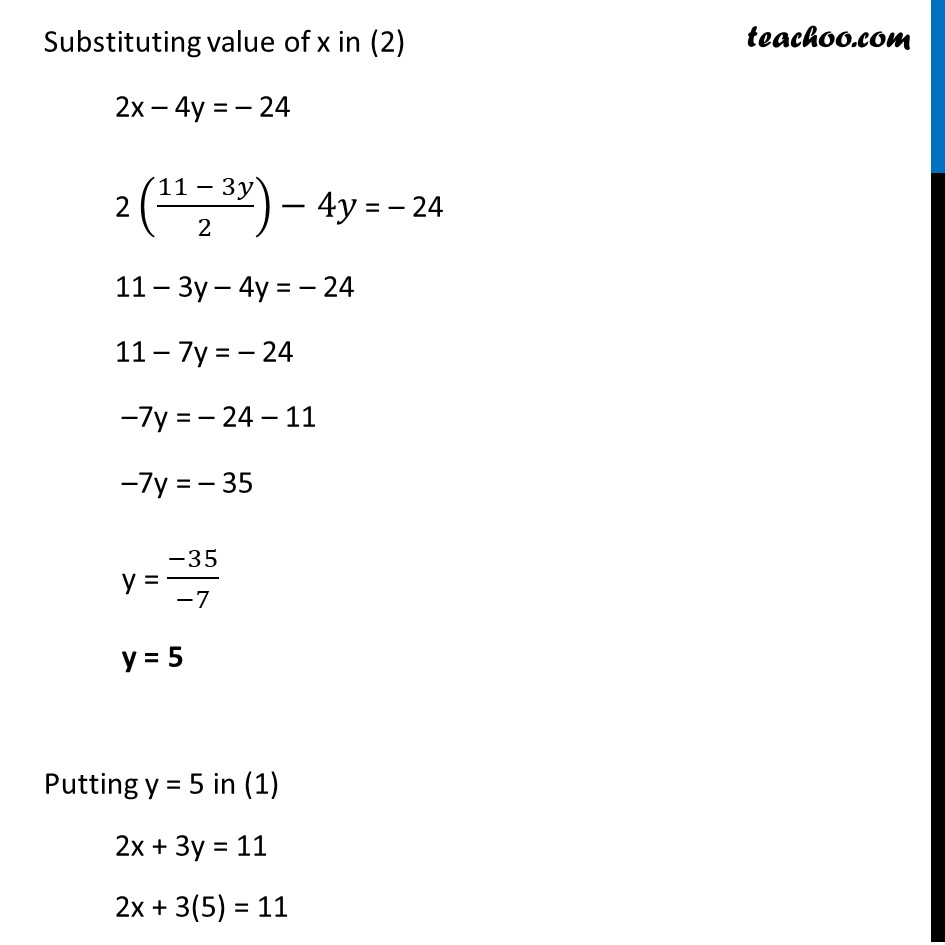 Ex 3.3, 2 - Chapter 3 Class 10 Pair of Linear Equations in Two Variables - Part 2