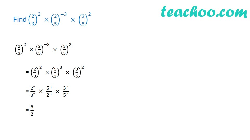 Practice Questions on Laws of Exponents - with videos - Teachoo