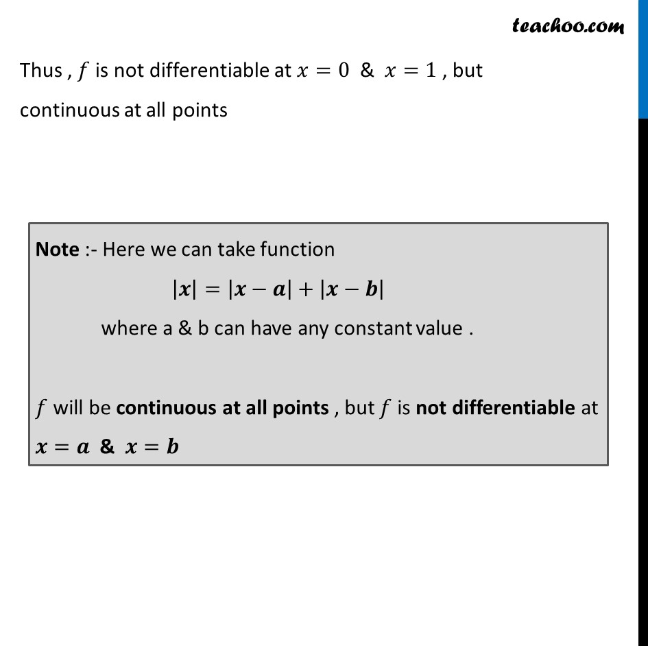 Misc  21 - Chapter 5 Class 12 Continuity and Differentiability - Part 10