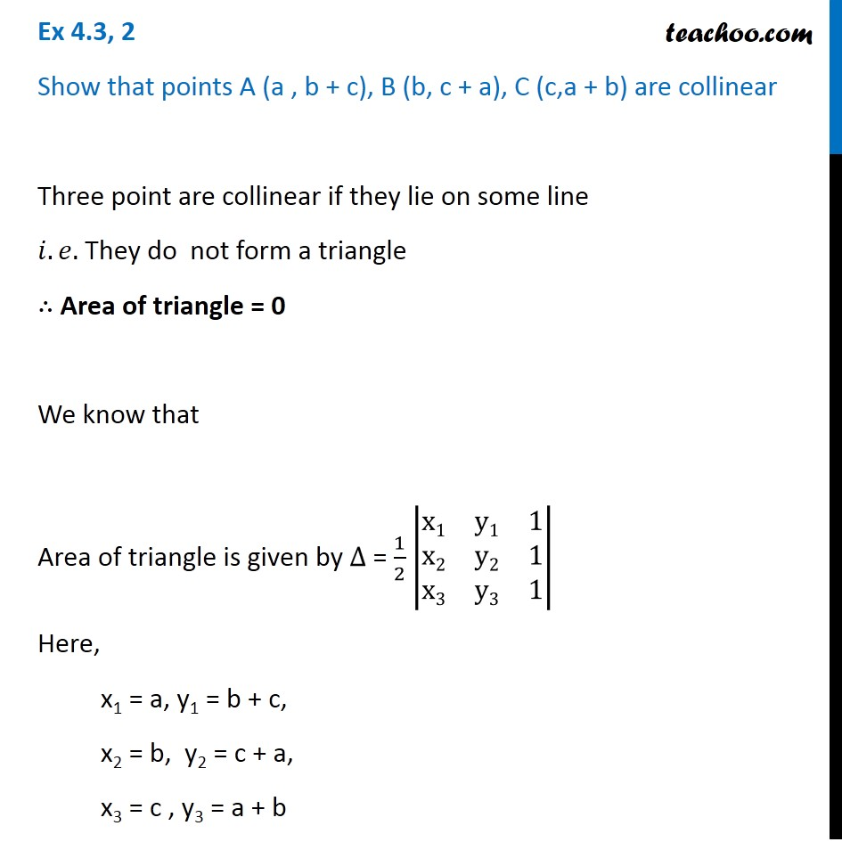 Ex 4.3, 2 - Chapter 4 Class 12 Determinants - Part 2