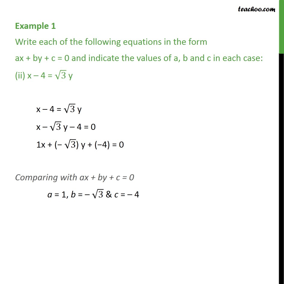Example 1 - Chapter 4 Class 9 Linear Equations in Two Variables - Part 2