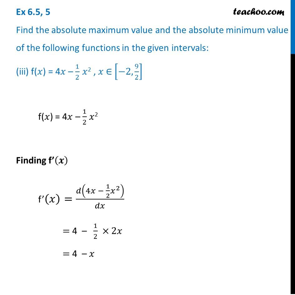 Ex 6.5,5 - Chapter 6 Class 12 Application of Derivatives - Part 6