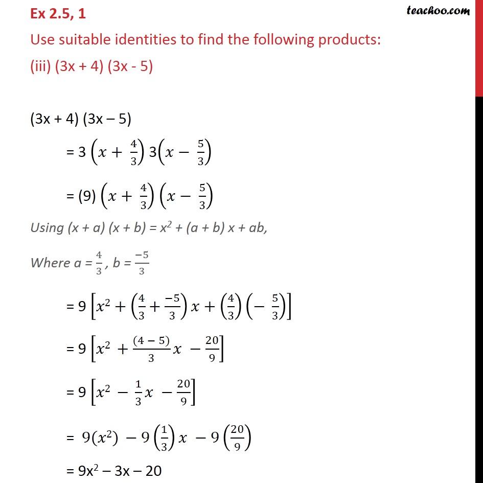 Ex 2.5, 1 - Chapter 2 Class 9 Polynomials - Part 3