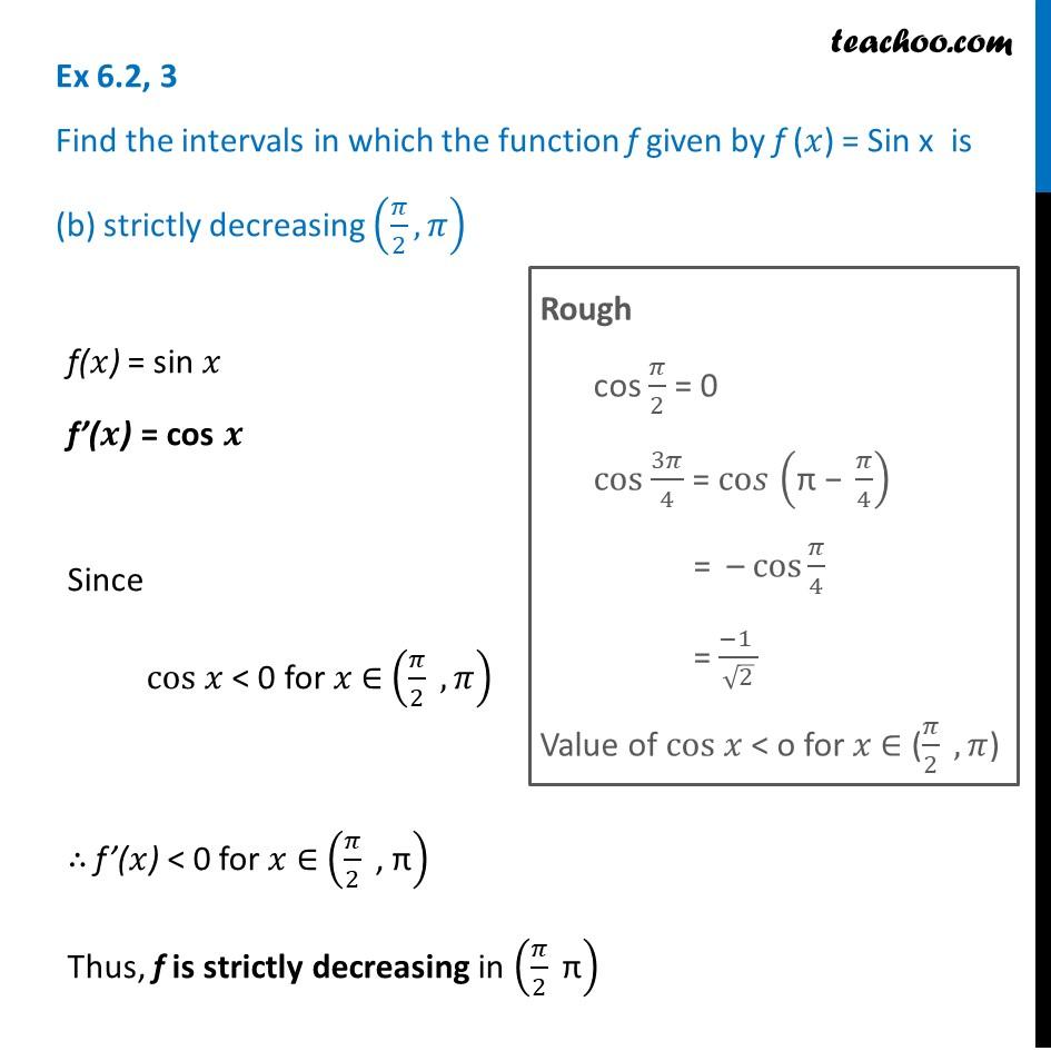 Ex 6.2,3 - Chapter 6 Class 12 Application of Derivatives - Part 2