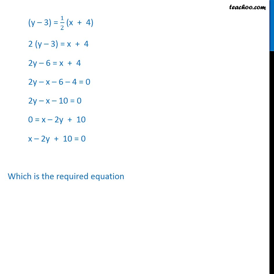 Ex 10.2, 2 - Chapter 10 Class 11 Straight Lines - Part 2