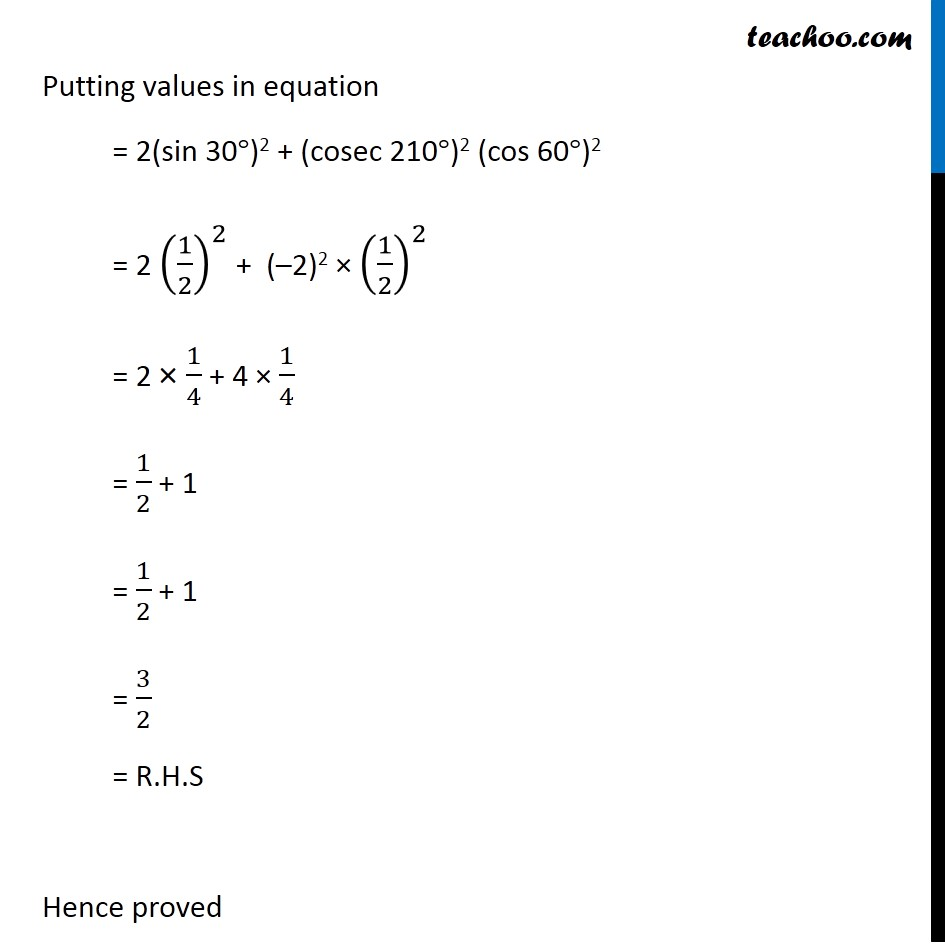 Ex 3.3, 2 - Chapter 3 Class 11 Trigonometric Functions - Part 3