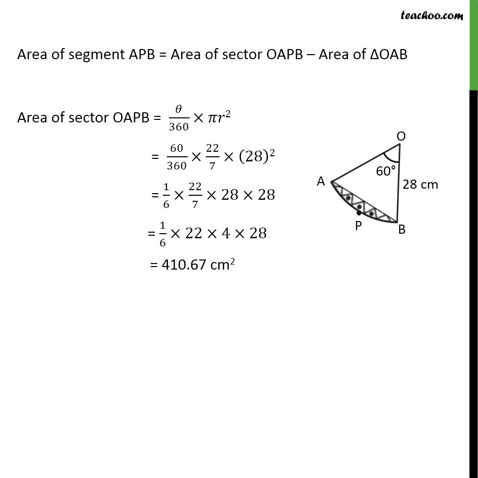 Ex 12.2, 13 - Chapter 12 Class 10 Areas related to Circles - Part 3