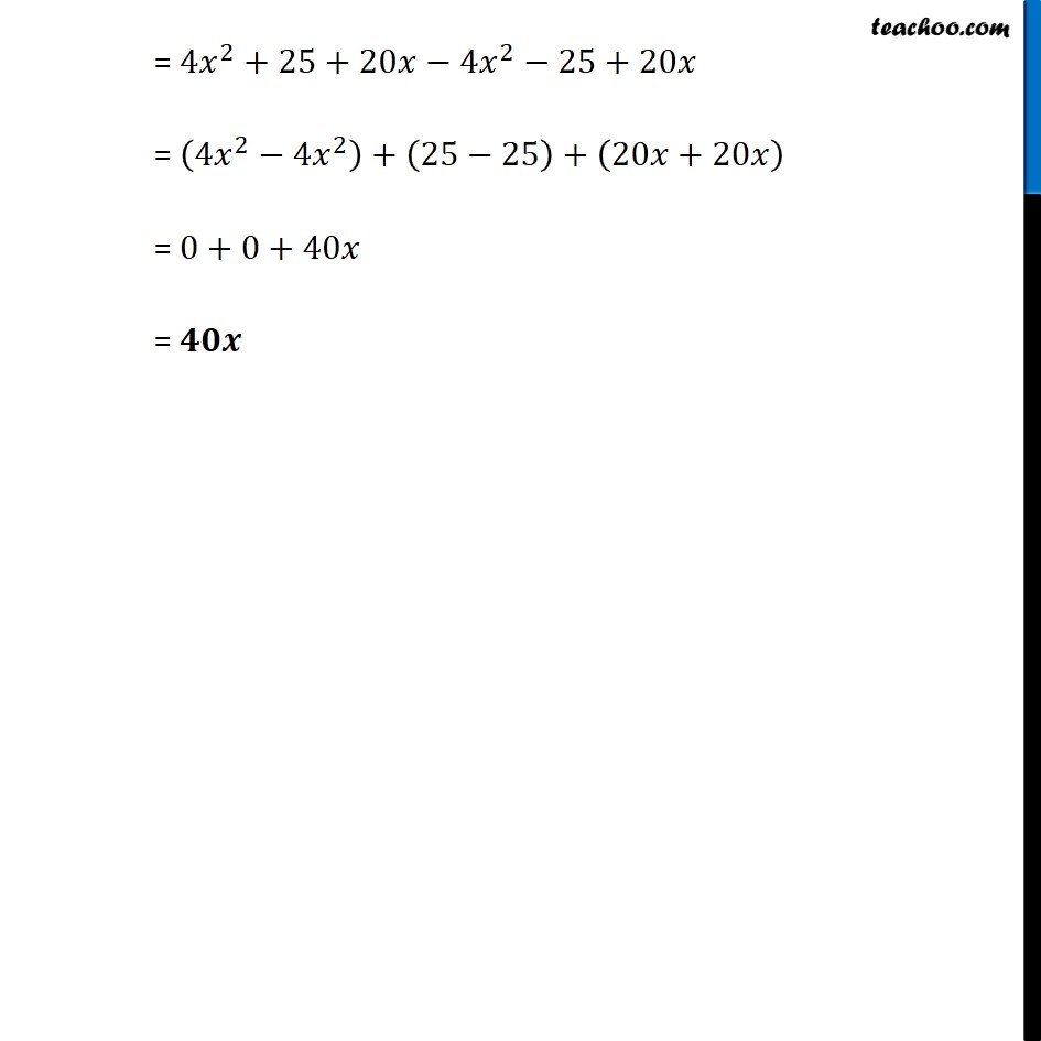 Ex 9.5, 4 - Chapter 9 Class 8 Algebraic Expressions and Identities - Part 3