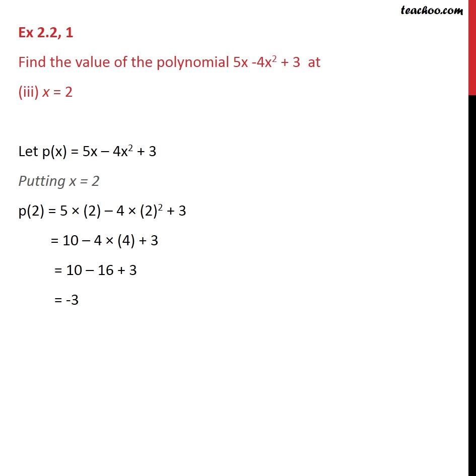 Ex 2.2,1 - Chapter 2 Class 9 Polynomials - Part 3