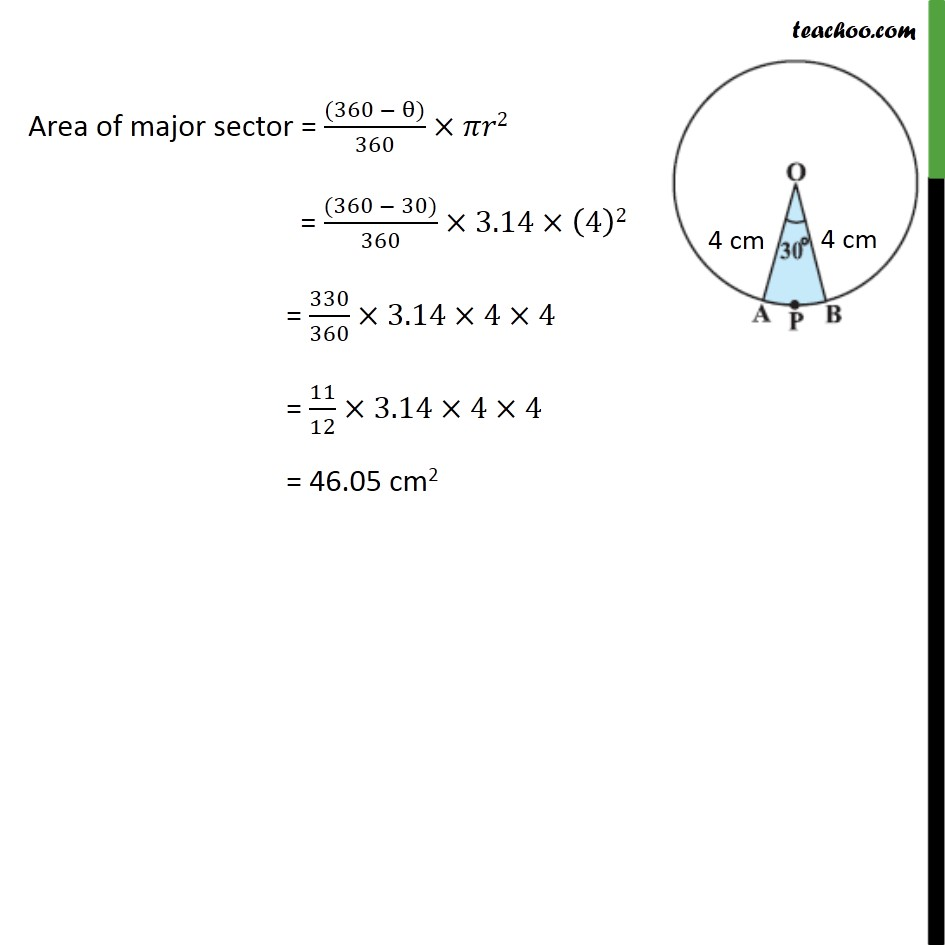 Example 2 - Chapter 12 Class 10 Areas related to Circles - Part 2