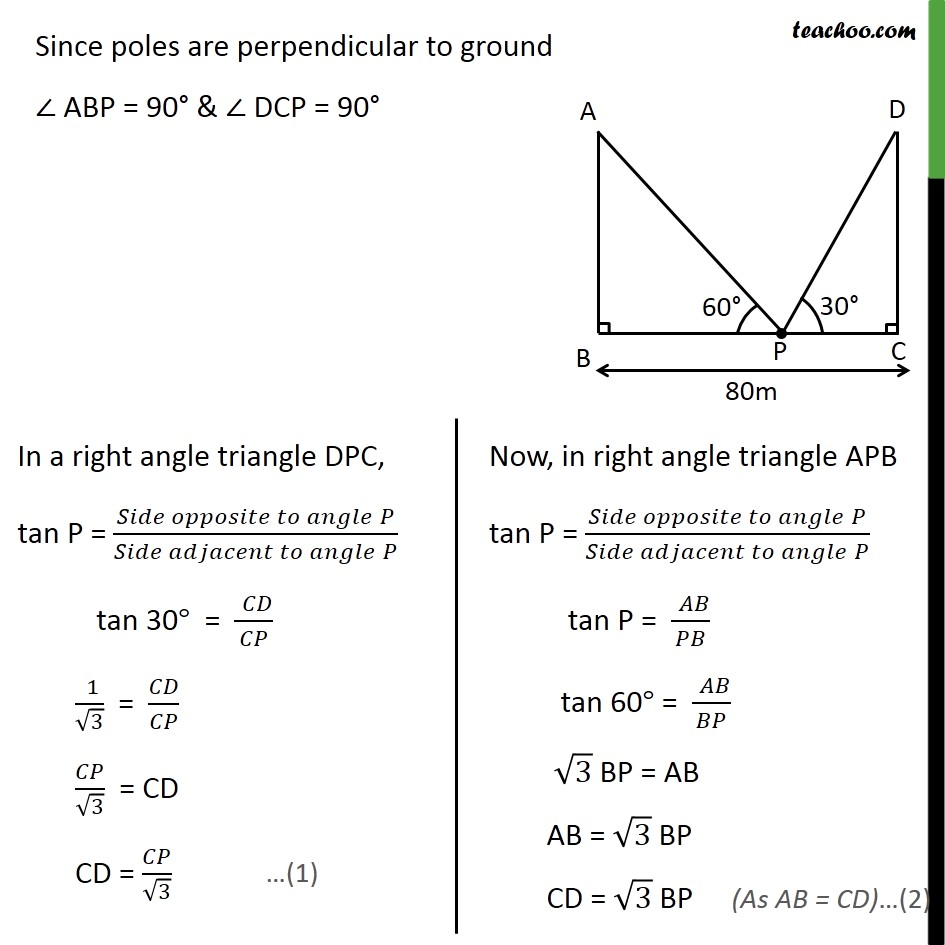 Ex 9.1, 10 - Chapter 9 Class 10 Some Applications of Trigonometry - Part 2