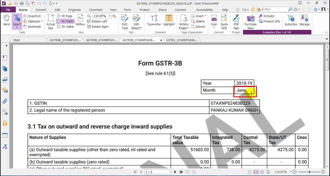 8. Again same procedure GSTR 3B with June month.jpg