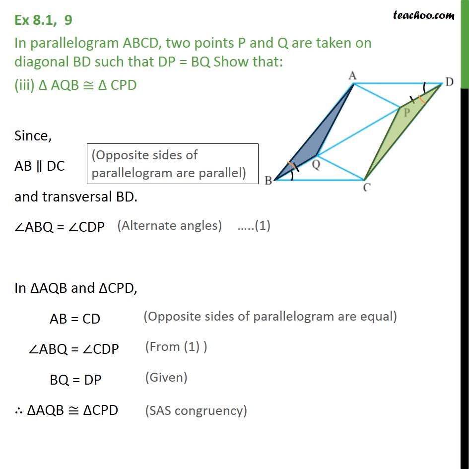 Ex 8.1, 9 - Chapter 8 Class 9 Quadrilaterals - Part 3