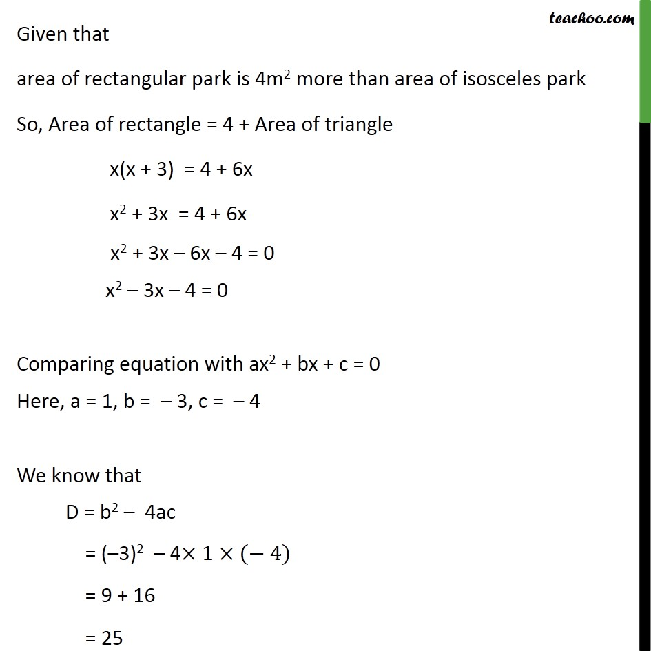 Example 12 - Chapter 4 Class 10 Quadratic Equations - Part 2