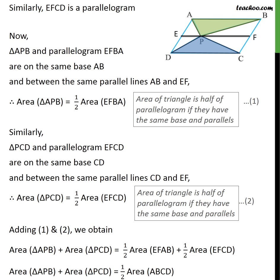 Ex 9.2, 4 - Chapter 9 Class 9 Areas of Parallelograms and Triangles - Part 2