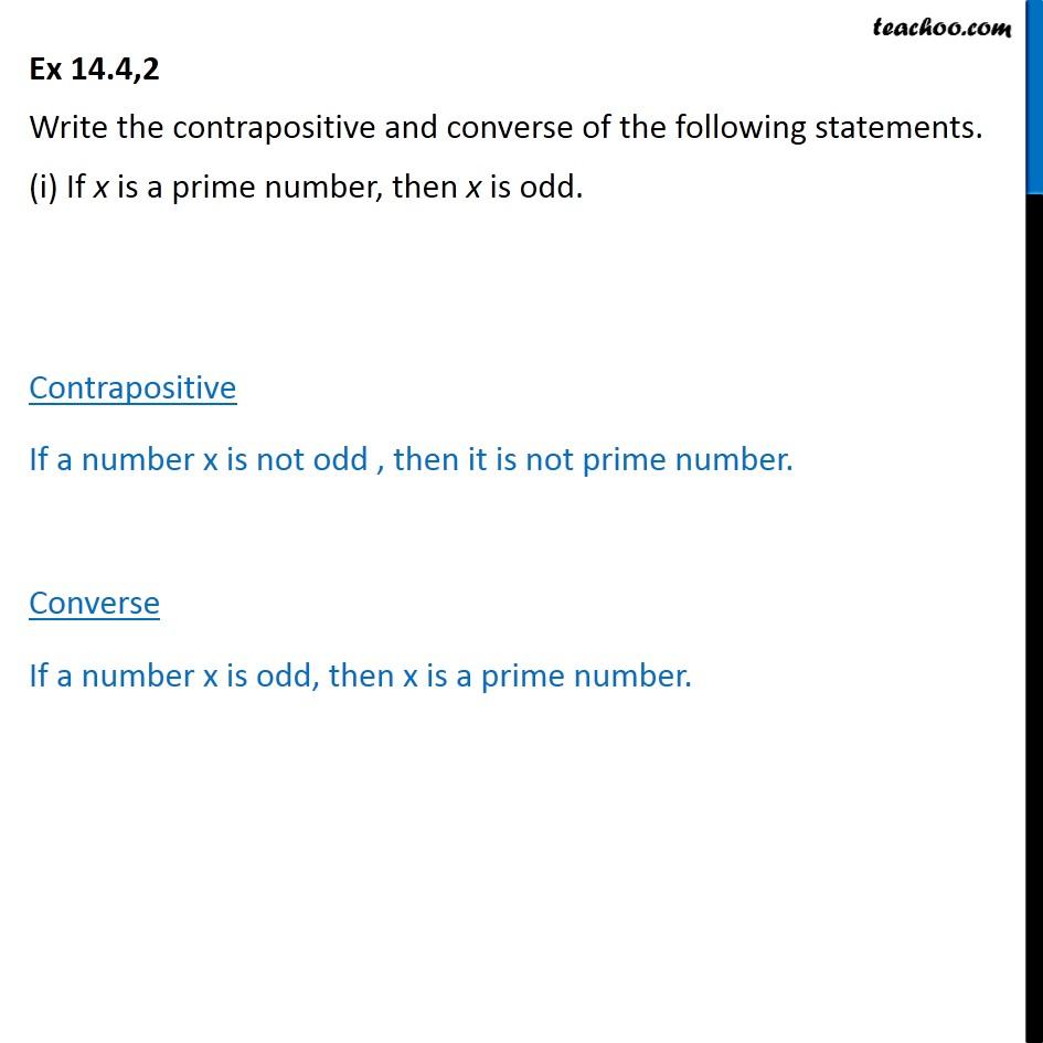 Ex 14.4, 2 - Chapter 14 Class 11 Mathematical Reasoning - Part 2