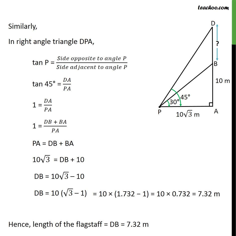 Example 4 - Chapter 9 Class 10 Some Applications of Trigonometry - Part 3