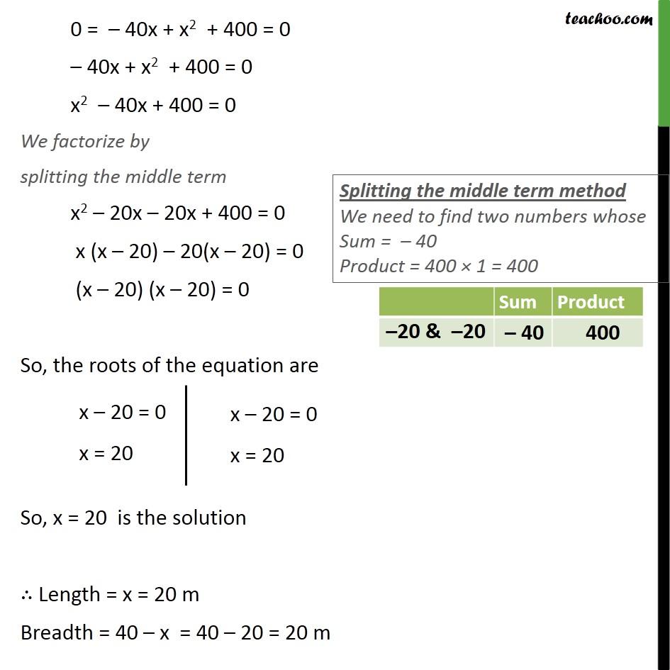 Ex 4.4, 5 - Chapter 4 Class 10 Quadratic Equations - Part 2