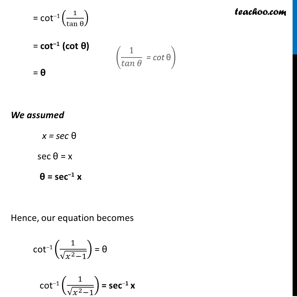 Example 6 - Chapter 2 Class 12 Inverse Trigonometric Functions - Part 2
