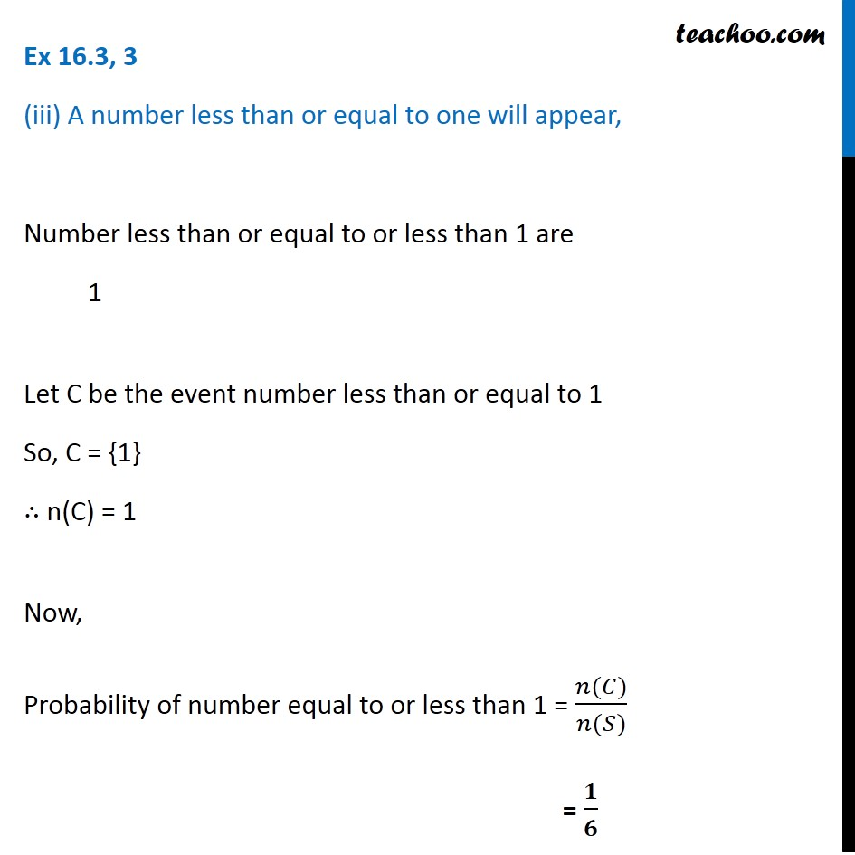 Ex 16.3, 3 - Chapter 16 Class 11 Probability - Part 4