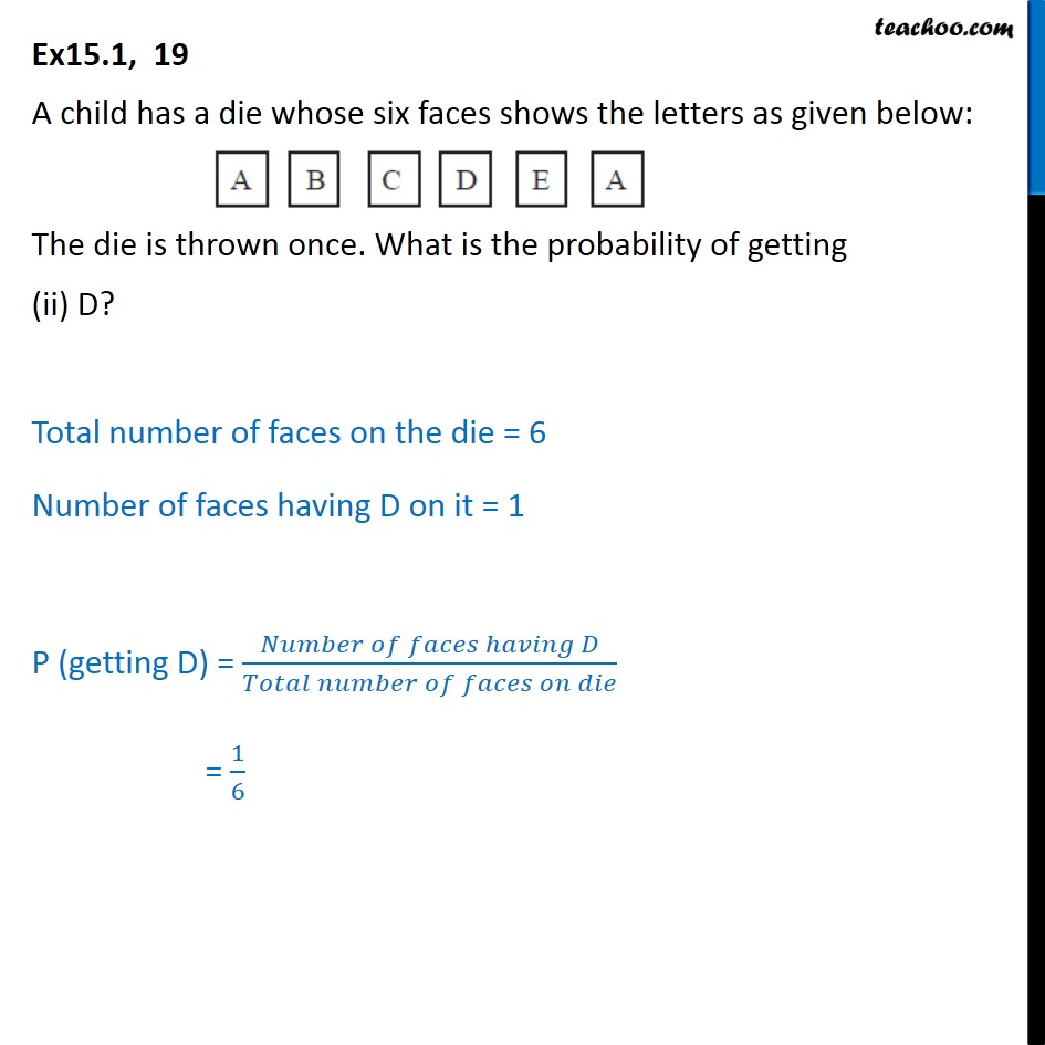 Ex 15.1, 19 - Chapter 15 Class 10 Probability - Part 2