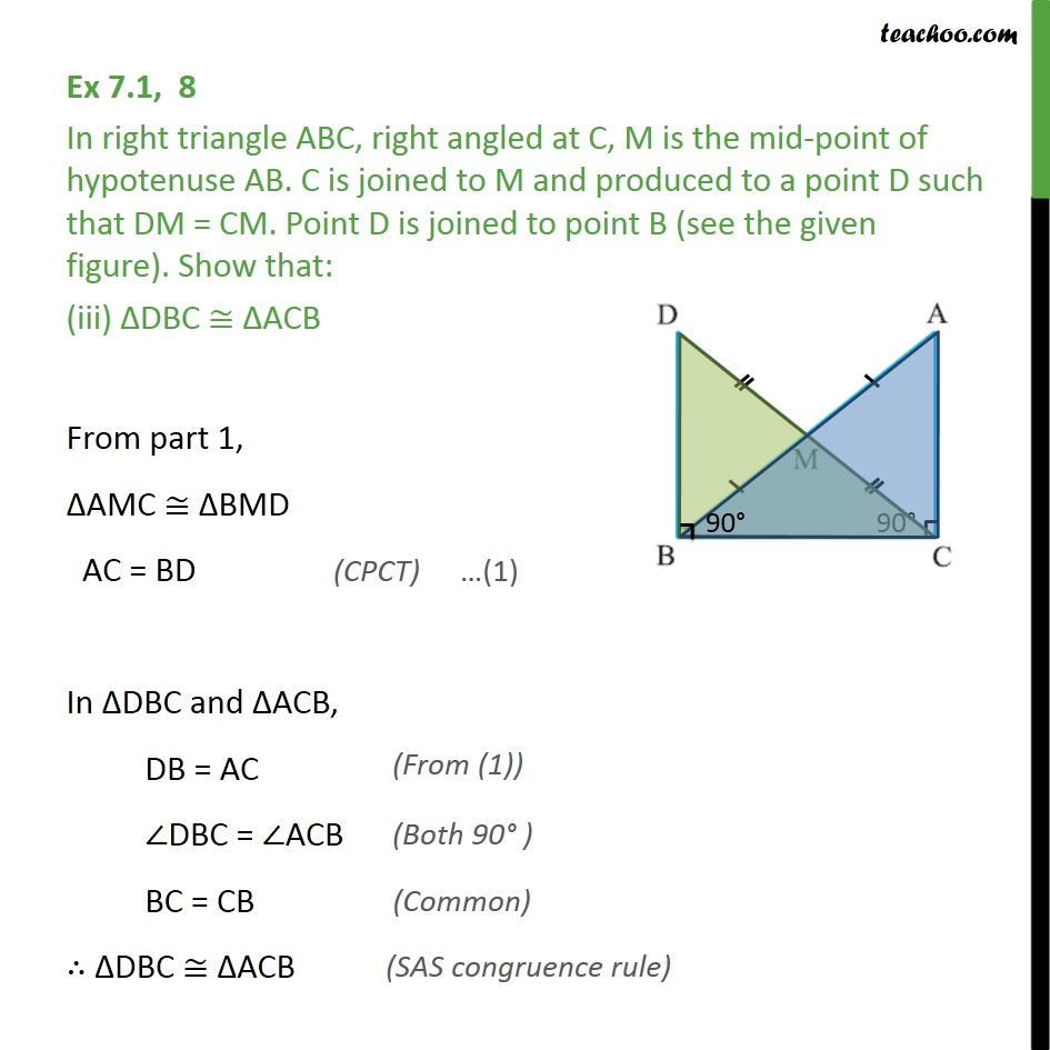 Ex 7.1, 8 - Chapter 7 Class 9 Triangles - Part 5