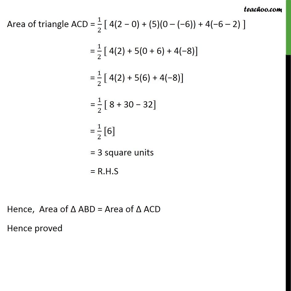 Ex 7.3, 5 - Chapter 7 Class 10 Coordinate Geometry - Part 4