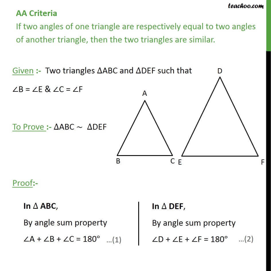 AA Criteria if two angles of one triangle are respectively equal to two angels of another triangle.jpg