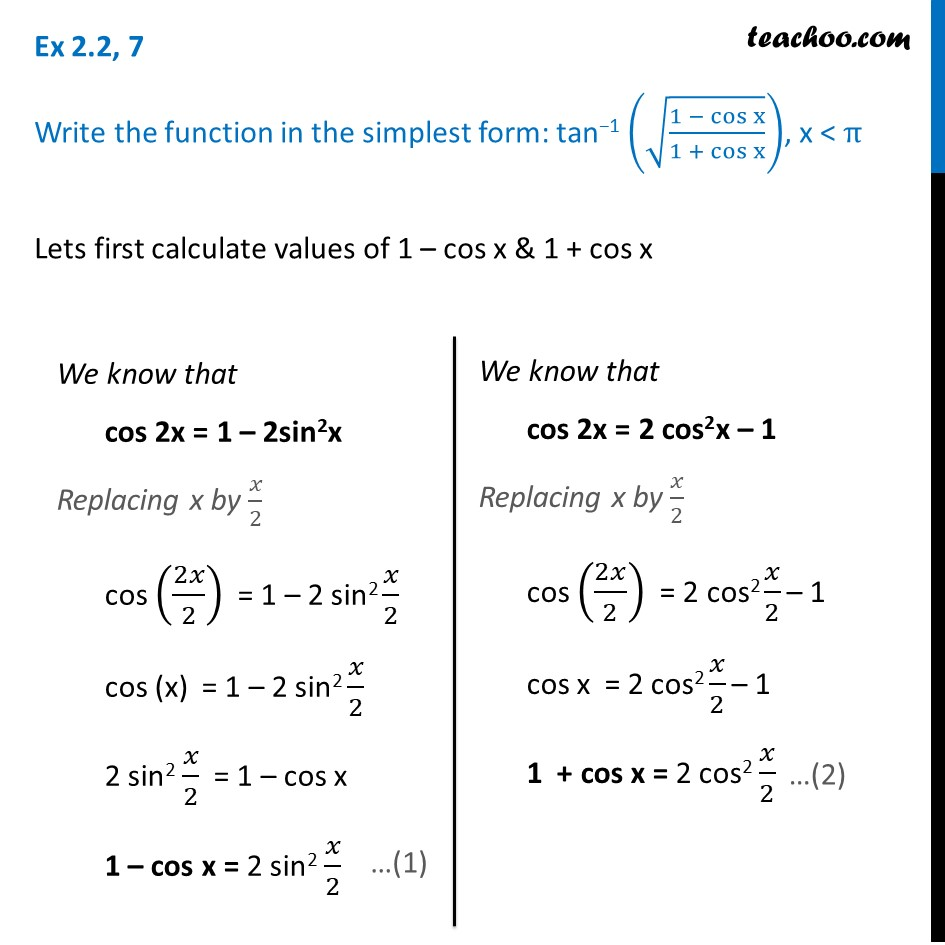 Ex 2.2, 7 - Chapter 2 Class 12 Inverse Trignometry - tan-1