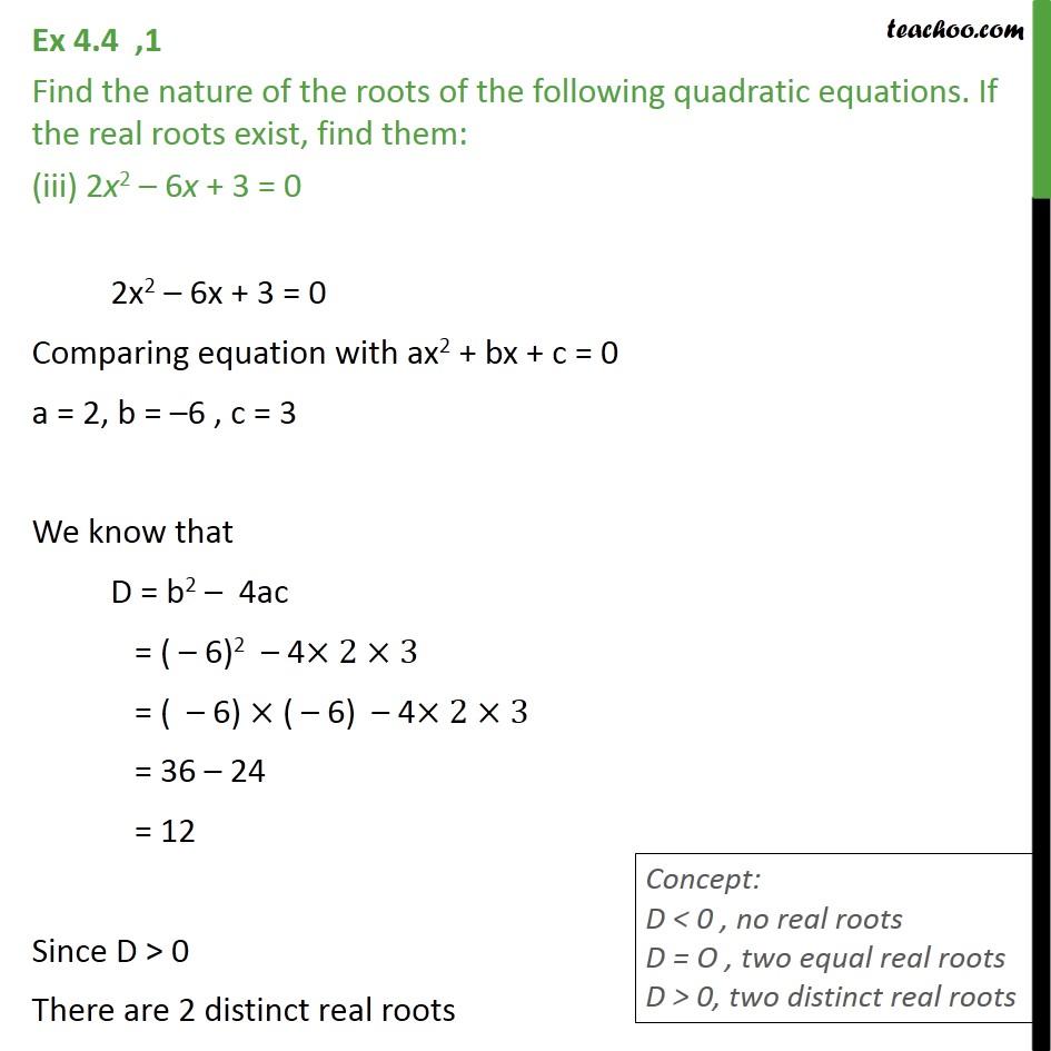 Ex 4.4, 1 - Chapter 4 Class 10 Quadratic Equations - Part 4
